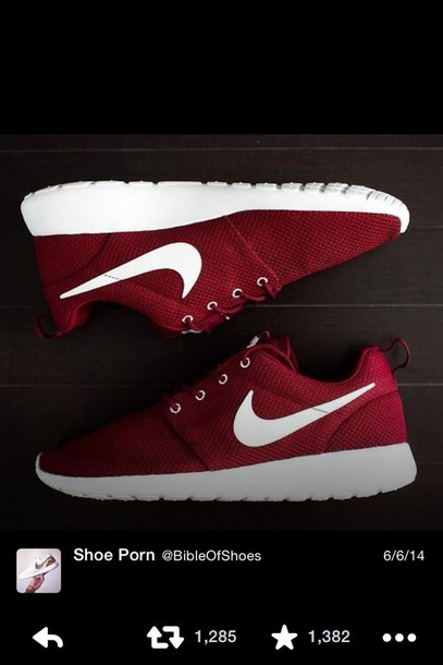 nike roshe run dames donkerrood