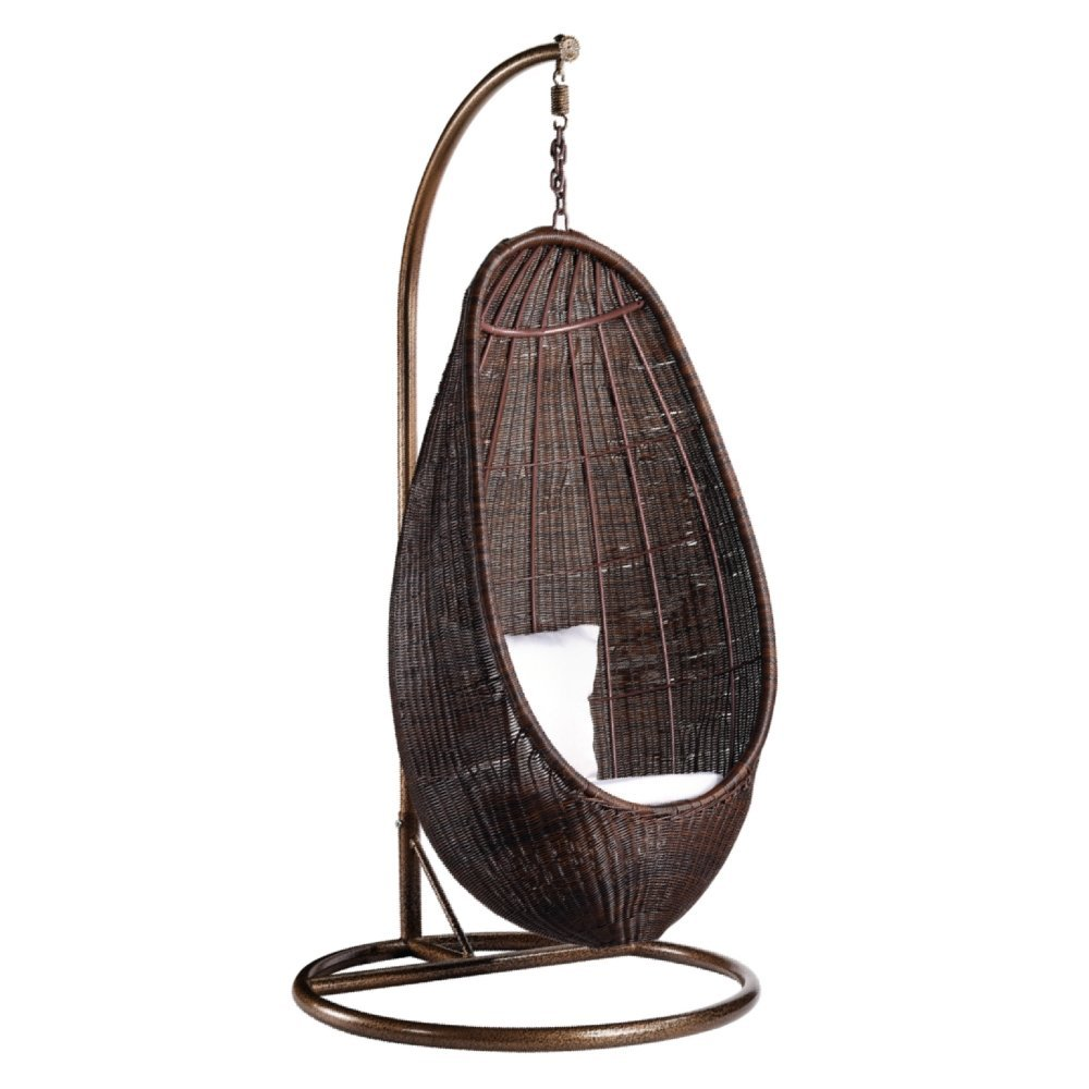Amazon.com   Fine Mod Rattan Hanging Chair With Stand   Hanging Chair Wicker