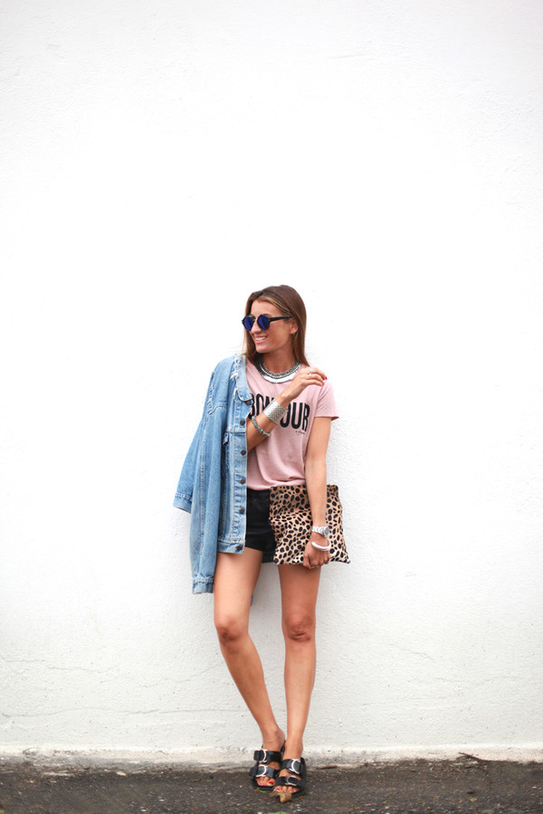 b a r t a b a c blogger t-shirt bag shoes sunglasses