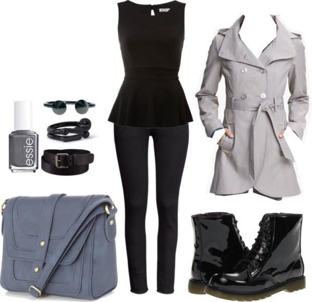 bag fashion grey purse