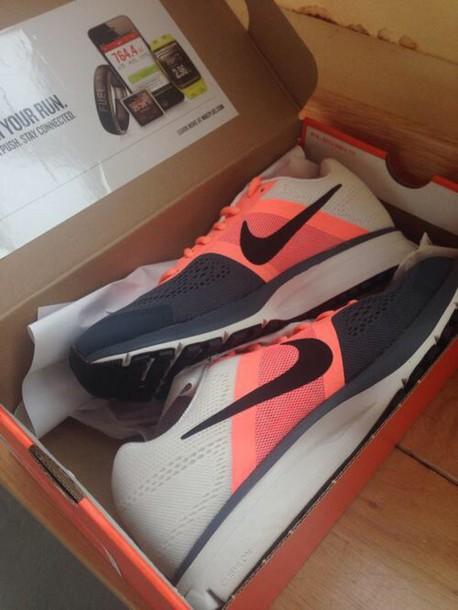 shoes nike pink white peach