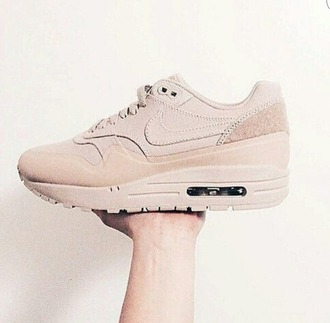 shoes nike nike shoes air max nude sneakers nude sneakers suede sneakers