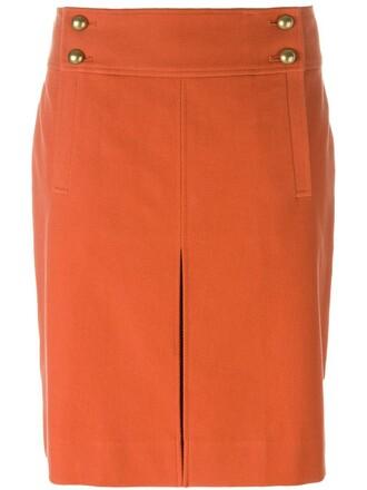 skirt mini skirt mini yellow orange