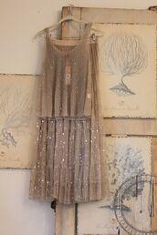 dress,top,tank top,sparkle,skirt,sequins,tan,creme,sequin skirt,creme skirt,european style,europe,vintage european fashion