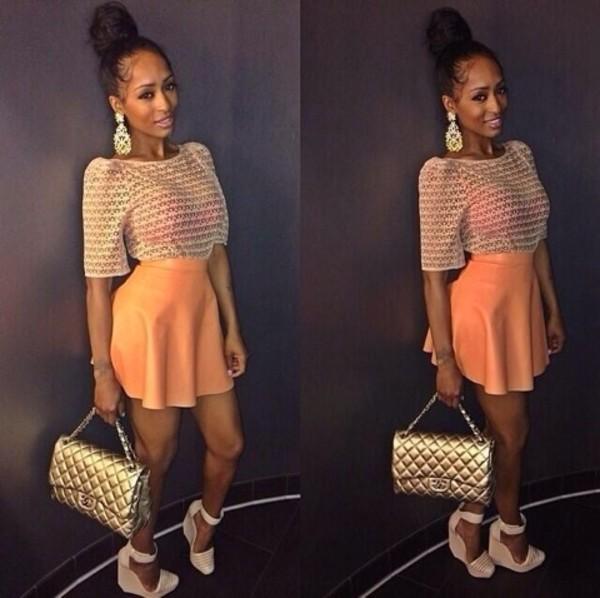 shirt skirt shoes bag blouse jewels