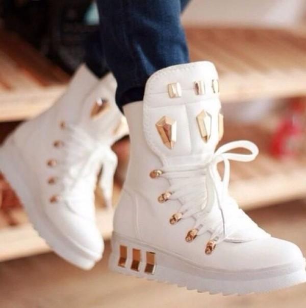 shoes white hightops diamond
