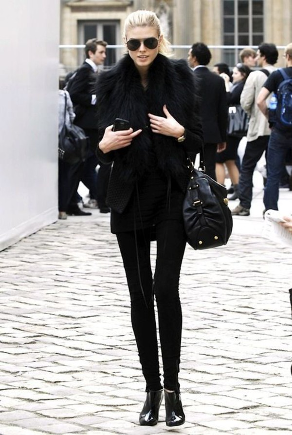 All Black Everything Fur Coat - Shop for All Black Everything Fur ...