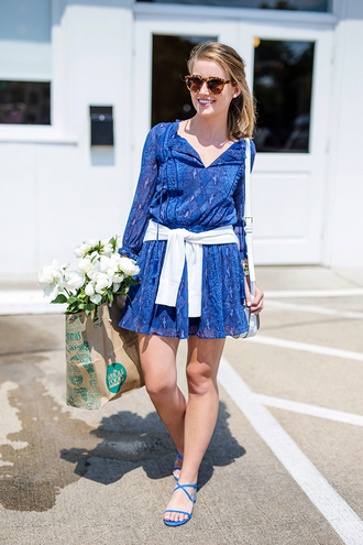 a lonestar state of southern blogger dress shoes cardigan bag sunglasses all blue outfit summer outfits