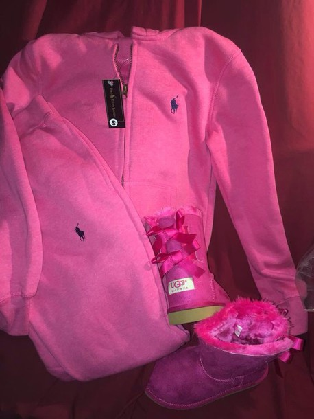 29e67bc9c53 jumpsuit pink polo sweatsuit sweater polo ralph lauren sweatsuits pink  sweater jacket