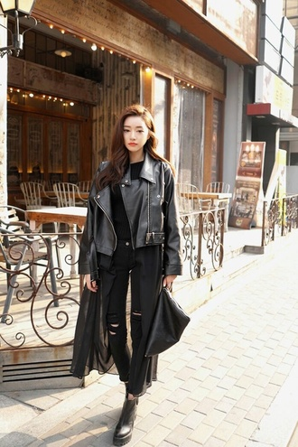 jeans black disco pants london style black jeans street style leather jacket all black everything spring jacket