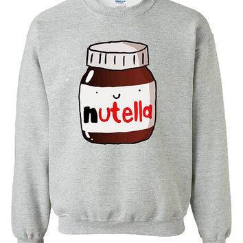 Nutella Chocolate Sweater Sweatshirt by UniqFashion on Etsy on Wanelo