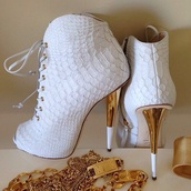 shoes,white,ankle boot stilettos,boots,heels