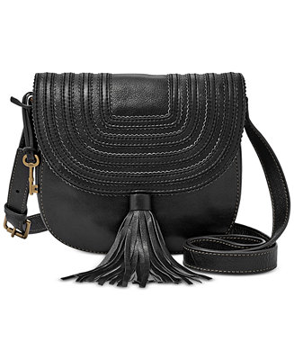 f5f844507e41ab Fossil Leather Emi Saddle Bag - Fossil Handbags - Handbags & Accessories -  Macy's