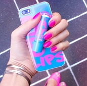 phone cover,maybeline,cover,iphone case,iphone cover,blue,quote on it phone case,babylips,baby lips,hydrate,baby lips hydrate,babylips hydrate,maybelline,maybelline new york,pink blue,babylips phone case,iphone,apple,light blue,earphones