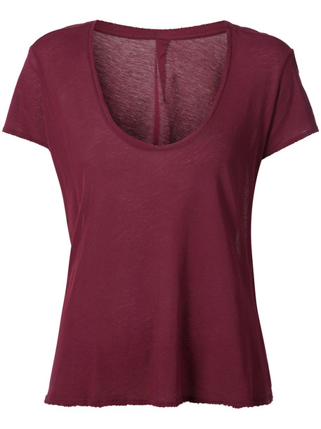 Unravel Project - relaxed fit T-shirt - women - Cotton - L, Red, Cotton