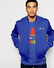 jacket,pharrell williams,supercolour,adidas,bomber jacket,blue jacket