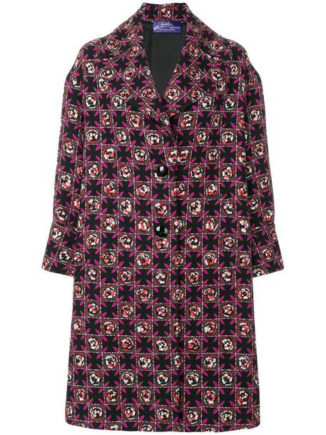 Emilio Pucci coat women black silk wool