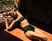 swimwear,green swimwear