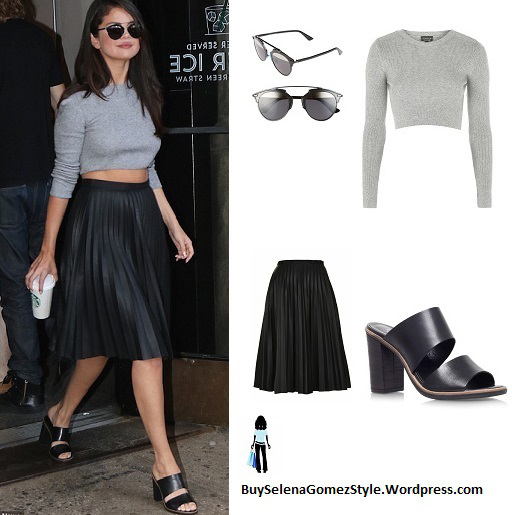 Selena Gomez Grabs Coffee in New York wearing Topshop