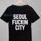 Seoul fuckin city awesome mens and womens unisex tshirt adult
