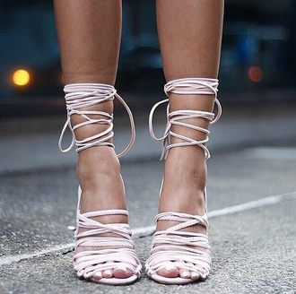 white strappy heels rose nude strappy sandals lace up heels