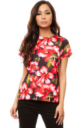 top,red,t-shirt,hawaiian