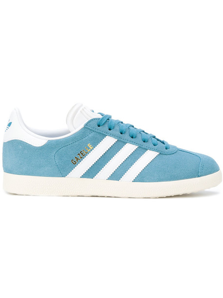 Adidas women sneakers leather cotton blue shoes