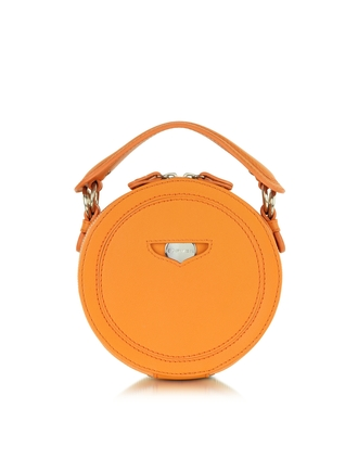 bag orange leather round clutch carven orange round clutch leather clutch