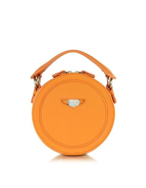 bag orange leather round clutch carven orange round clutch leather clutch