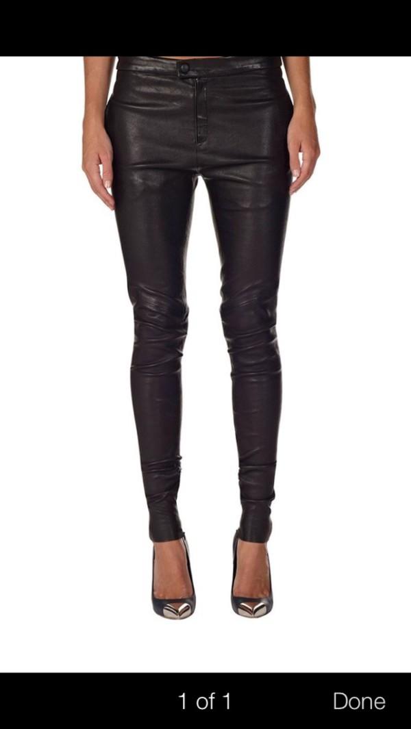 jeans black jeans leather pants