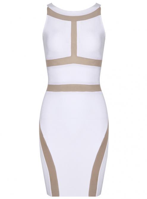 White Sexy Sleeveless Bandage Dress H652 $109