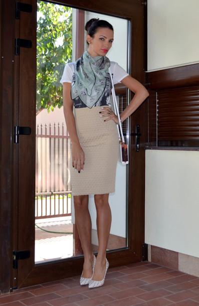 my silk fairytale t-shirt skirt scarf shoes bag jewels