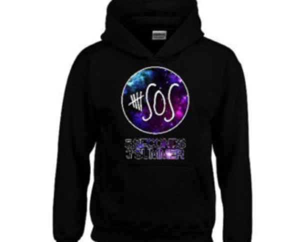 5 seconds of summer hoodie band merch jacket