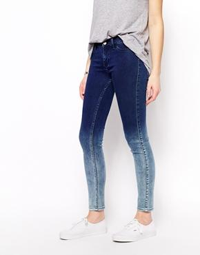 MiH Jeans | MIH Jeans High Waisted Skinny Jeans With Dip Dye at ASOS