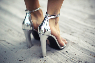 shoes heels metallic silver metallic shoes