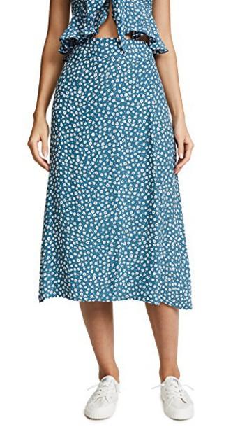 FAITHFULL THE BRAND skirt floral print