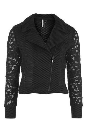 jacket biker jacket lace black