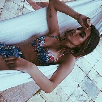 swimwear floral top bikini swinwear