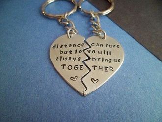 home accessory heart keychain love distance heart key ring long distance long distance relationships relationship goals relationship swag relationship
