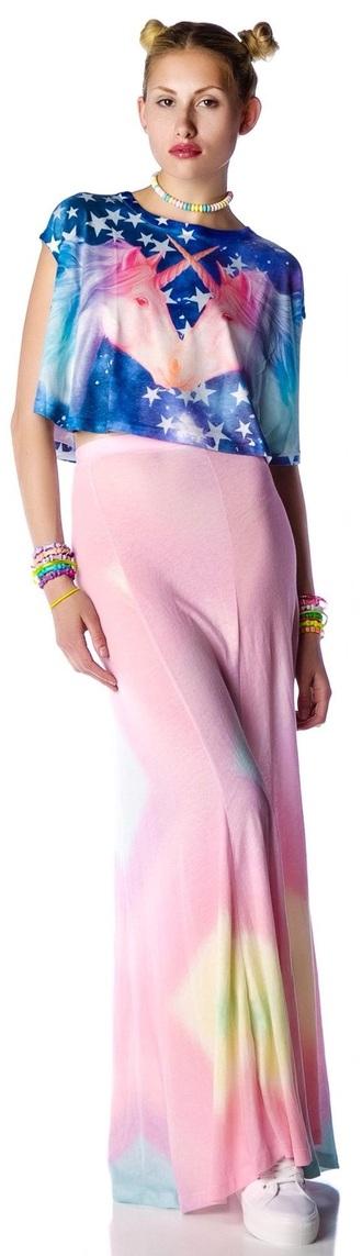 t-shirt dope pastel unicorn kawaii style shirt skirt