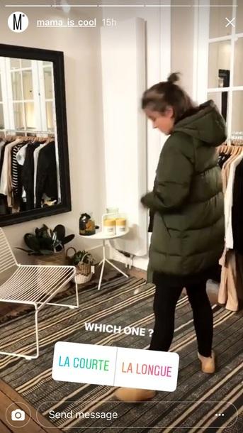 coat down jacket black and kaki coat long coat