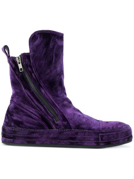 ANN DEMEULEMEESTER women leather velvet purple pink shoes