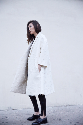 blogger stop it right now oxfords white coat