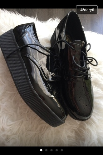 shoes black leather asos