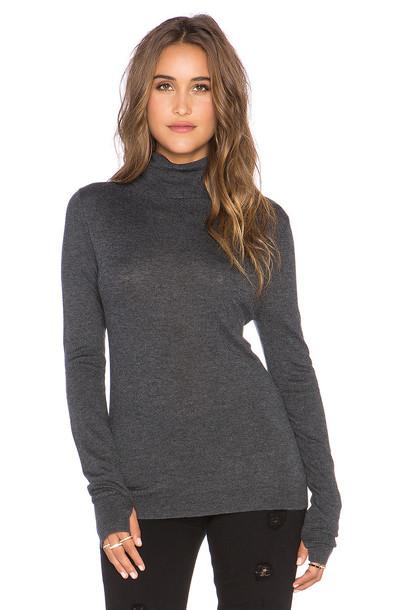 Feel the Piece Zeek Turtleneck Sweater in charcoal