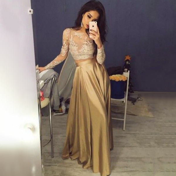 dress dressesofgirl prom dress long prom dress gold prom dress a line prom dresses a line prom gowns long sleeve prom dress satin prom dresses unique prom dresses prom dresses 2017 scoop neck prom dresses