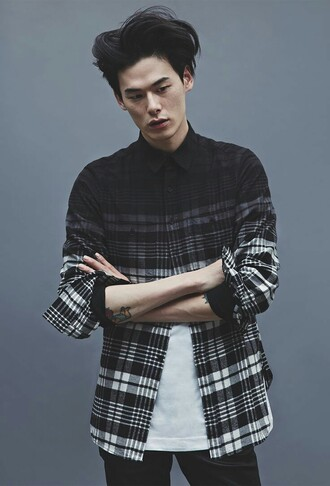 shirt black menswear kirean mens shirt