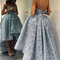 High low long prom dress flowers sweetheart ball gowns formal dress,hh076