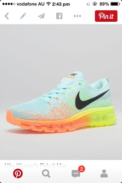 shoes blue shoes nike air flyknit women nike shoes