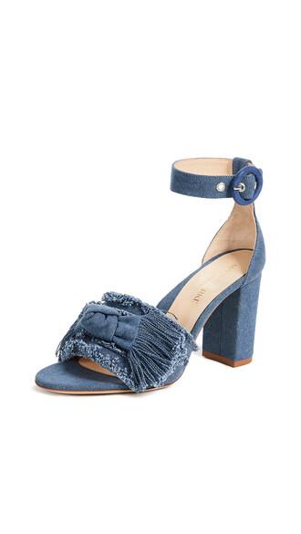 sandals denim blue shoes